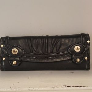 Juicy Couture soft black leather wallet